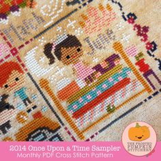 **WANT**2014 Once Upon A Time Sampler PDF Cross Stitch Pattern / The Frosted Pumpkin Stitchery