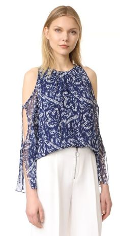 Ramy Brook Brush Stroke Printed Norma Blouse | 15% off first app purchase with code: 15FORYOU