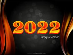 Free Happy New Year 2022 Fire Background