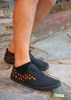 Black Canvas Shoes Design: Neon ▲▲▲▲▲