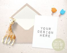 Styled Photography Mock Up 5x7 Card and Envelope by MockUpStudio