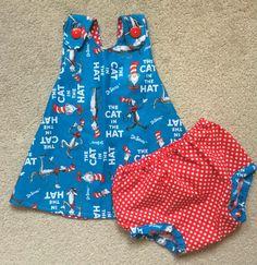 Baby Girl Dress-Dr. Seuss Dress-Cat in the Hat por TheDandelionLane