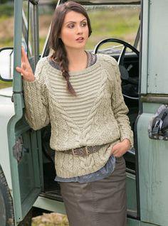 Sweter z warkoczem - Robienie na drutach  na Makerist