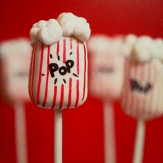 Popcorn Bag cake pops!