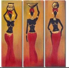 pintura de negras en madera - Buscar con Google African Beauty, African Women, African Fashion, Ankara Fashion, African Style, Black Women Art, Black Art, African Art Paintings, Africa Art