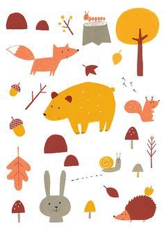 Forest print for Menudos Cuadros