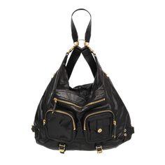 27868 auth GUCCI black leather DARWIN Backpack Shoulder Bag