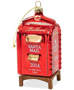 """Yes Virginia Mailbox Christmas Ornament """"yes Virginia, there is a santa claus"""""""