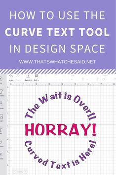 It's finally here, Curved Text Tool In Cricut Design Space! Tutorial how to Curve Text in Cricut Design Space via How To Use Cricut, Cricut Help, Cricut Air, Cricut Vinyl, Cricut Fonts, Vinyl Decals, Cricut Tutorials, Cricut Ideas, Design Home App