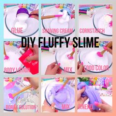 Gillian Bower Fluffy Slime - Best Recipes Around The World Diy Fluffy Slime, Fluffy Slime Recipe, Diy For Kids, Crafts For Kids, Le Slime, Fun Crafts, Diy And Crafts, Balle Anti Stress, Silly Putty