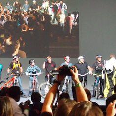 The Google I/O 2012 keynote began too soon, before a good half of the audience had found their seats. #projectglass #glassexplorer #googleglass #ifihadglass