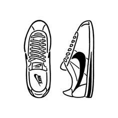 online retailer 2c62f 09f32 Nike Drawing, Nike Cortez, Cortez Shoes, Sneaker Art, Easy Drawings, Summer