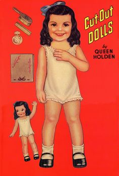 CAROLYN LEE PAPER DOLL BOOK BY QUEEN HOLDEN. Originally Published 1942 by Whitman 2 of 10