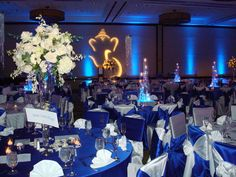pinterest navy silver weddings | Navy blue and silver wedding decor ...