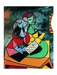 La lecture, 1934 by Pablo Picasso, Art Print Picasso Art, Pablo Picasso, Cheap Art Prints, Canvas Wall Art, Disney Characters, Fictional Characters, Poster, Expressionism, Reading