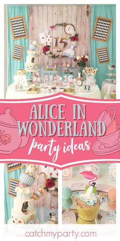 These Are the Most Popular Girl Birthday Party Themes for Girls Birthday Party Themes, Tea Party Birthday, Birthday Cake, Princess Theme Party, Princess Birthday, Carousel Party, Alice In Wonderland Birthday, Flamingo Party, Minnie Mouse Party