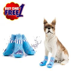Pet Sock Shoes Waterproof Dog Socks Pets Boots For Small Medium Large Dogs Anti Slip Rubber Traction Control Paw ProtectorBUY ONE GET ONE FREEWPS023 >>> You can find out more details at the link of the image. (This is an affiliate link) #CatApparel