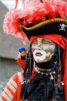 Picture Of Venice Carnival Costume Mask. Photo To Download at ...