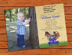 Little Blue Truck Themed Invitation With Picture by pdotprintables, $13.00