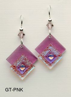 Fused Glass Earrings lovely assemblage