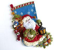 Felt Christmas Stocking Finished Bucilla Stocking Personalized