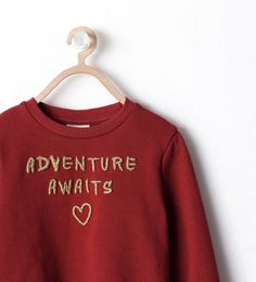 Image 3 of EMBROIDERED DETAIL SLOGAN SWEATSHIRT from Zara