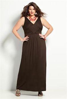 Sleeveless Diamond Maxi Dress | Plus Size View All Dresses | Avenue