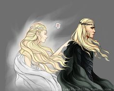 I didn't like what they said about Thranduil's wife in BotFA; it didn't make sense. But this picture is beautiful.