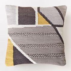 Chindi Colorblock Shag Pillow Cover - Platinum #westelm