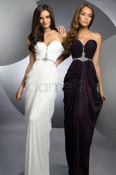 900362495e8 Kristall Etui-Linie Herz-Ausschnitt Chiffon trägerloses drapiertes  bodenlanges Abendkleid Formal Evening Dresses
