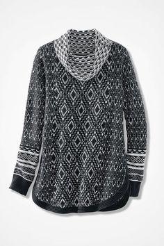 Fireside Lodge Sweater, Black