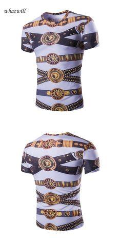 0402cfc893bc Fashion T-shirts 3D Print Slim Casual Tops Tees Hip Hop Summer Style All  Match