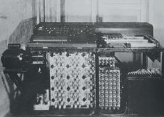 ABC computer (Atanasoff-Berry), one of the first computers, built to solve linear equations but pioneered many concepts used in digital computers. Photo from Iowa State University web site