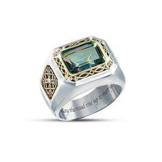 Mystic Topaz Men's Ring: The Legend Of Ireland Jewelry
