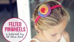 Felted Pinwheels (A Tutorial)