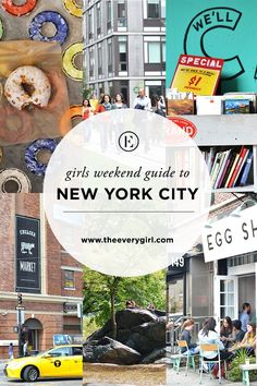 The Everygirl's Weekend City Guide to New York City - The Everygirl - - With an endless amount of things to do, places to eat, and sights to visit, it's hard to know where. Times Square, New York Guide, New York Travel Guide, Brooklyn Bridge, Stuff To Do, Things To Do, New York City Travel, New York Trip, New York City Museums