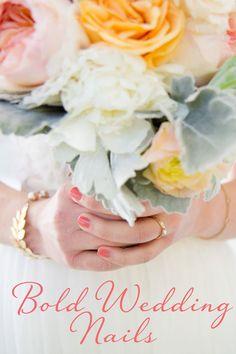 Bold Wedding Nails |