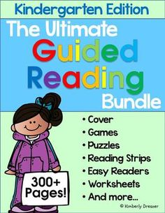 Guided Reading Packet for Kindergarten!! Enter for your chance to win 1 of 2.  Ultimate Guided Reading Bundle, Kindergarten Edition! 300+ Pages. Complete Set! (324 pages) from Kimberly's Kindergarten on TeachersNotebook.com (Ends on on 3-23-2015)  Make your planning easy with this Ultimate Guided Reading set for Kindergarten!