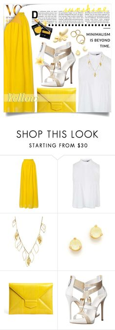 """""""""""Y"""" is for Yellow"""" by jessinerio4l ❤ liked on Polyvore featuring Topshop, Aurélie Bidermann, Kate Spade, Oscar de la Renta and Giuseppe Zanotti"""