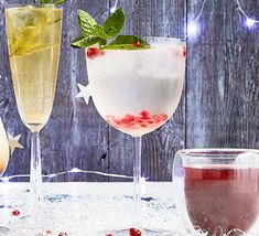 Gin-free G&T Cater for the designated drivers at your party with this divine alcohol-free G&T mocktail. Chamomile, cardamom, mint, cloves and rosemary create the botanical flavour Non Alcoholic Drinks, Cocktail Drinks, Cocktail Recipes, Gin Recipes, Bbc Good Food Recipes, Christmas Recipes, Christmas Ideas, Alcohol Free Gin, Virgin Cocktails
