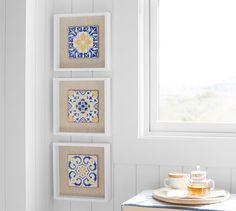 Ceramic Wall Tile Shadowbox - Set of 3 | Pottery Barn