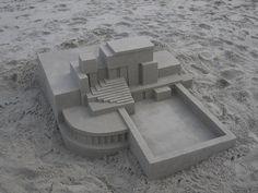 Sand castle by New York artist Calvin Seibert.