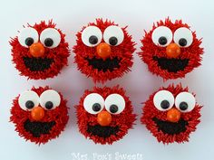 Perfect for an Elmo birthday party. Sam would have loved these when he was little.