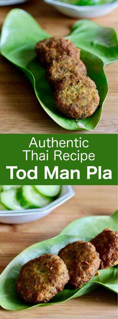 Tod man pla are delicious small fish cakes prepared with yardlong beans that are very popular in Thai street food cuisine. Read Recipe by bechoraviv Thai Recipes, Asian Recipes, Healthy Recipes, Oriental Recipes, Fish Recipes, Seafood Recipes, Delicious Recipes, Cake Recipes, Vegetarian Recipes