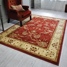 Ziegler Arak Rugs in Rust with a Cream border feature a persian design with intricate detailing that is sure to be the focal point of your room.