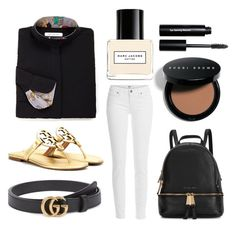 """""""rjclassic street look"""" by eqlmag on Polyvore featuring Paige Denim, Gucci, Tory Burch, Michael Kors, Marc Jacobs, Bobbi Brown Cosmetics, women's clothing, women, female and woman"""