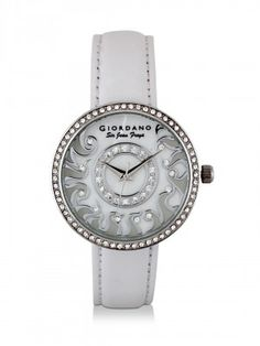 GIORDANO Analogue Watch With Embellished Bezel only at koovs.com