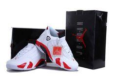 Men's Air Jordan 14 Retro Shoes White Red Black - Cheap Jordans Shoes Online Shop