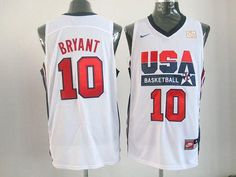 Nike Team USA #10 Kobe Bryant White 2012 USA Basketball Retro Embroidered NBA Jersey! Only $24.50USD