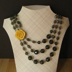 Make your own necklace display - cardboard12.5 inches wide x 10 inches